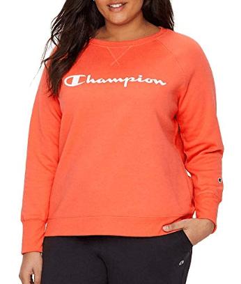 Champion Women's Plus Size Fleece Crew Sweatshirt Sweater at Amazon Women's Clothing store