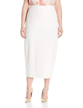 07b34e4a45 Kasper Women's Plus-Size Stretch Crepe Column Skirt at Amazon Women's  Clothing store