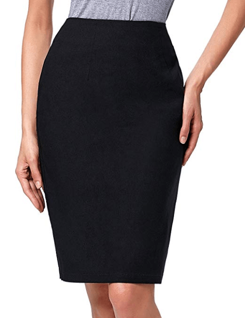 Kate Kasin Women's Knee Length Pencil Skirts Slim Fit Business Skirt at Amazon Women's Clothing store