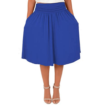 Stretch is Comfort Women's Pocket Skirt at Amazon Women's Clothing store