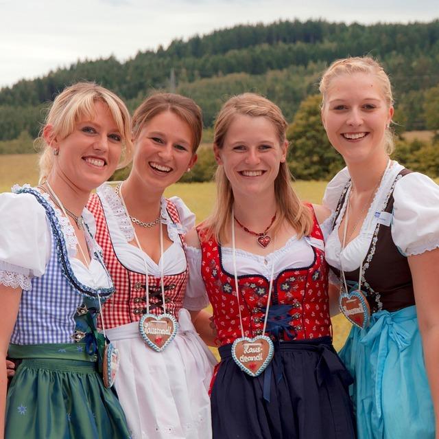 dirndl, girlfriends, costume