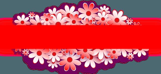banner, flower, red